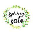 watercolor spring sale poster vector image vector image