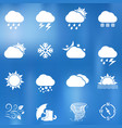 weather icons on blurred background vector image vector image