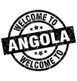 welcome to angola black stamp vector image vector image