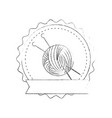 yarn ball icon vector image vector image