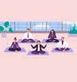 yoga office workers yoga vector image vector image