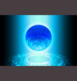 blue world future technology background vector image