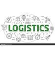 lines slides template logistics vector image