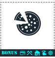 Pizza icon icon flat vector image