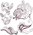 Collection abstract floral elements vector image