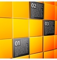 Abstract cubes infographic design elements vector image
