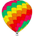 air balloon on a white background vector image vector image