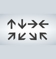 arrows collection set of different direction vector image vector image