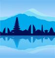 bali skyline vector image vector image
