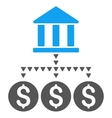 Bank Structure Flat Symbol vector image vector image