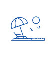 beach line icon concept beach flat symbol vector image vector image