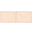 blank retro postal envelope old vintage air mail vector image vector image