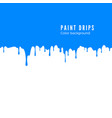 blue paint splatter horizontal drips seamless vector image