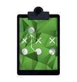 board tactical diagram american football abstract vector image