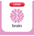brain logo silhouette top view design template vector image vector image