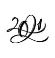 calligraphic 2021 text christmas and happy vector image vector image