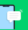 cartoon frameless phone like online chat vector image