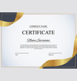 certificate template background award diploma vector image vector image