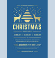 christmas party invitation modern typography vector image