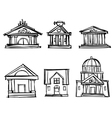 city buildings theaters to draw a pencil vector image vector image