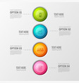colorful business circles background vector image vector image