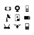 computer electronic technology icon set image vector image
