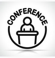 conference icon design concept vector image vector image