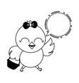 cute chick cartoon vector image vector image