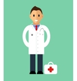 Doctor standing isolated flat style vector image vector image