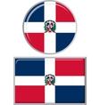 Dominican Republic round and square icon flag vector image