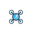 drone run logo icon design vector image vector image