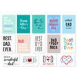 fathers day cards set vector image