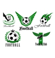 Football game icons or emblems set vector image vector image