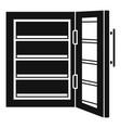 glass door fridge icon simple style vector image vector image
