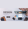 graphic designer creative workplace design studio vector image vector image