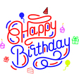 Happy Birthday Colorful Cheer vector image