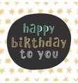Happy Birthday modern lettering in ethnic style vector image