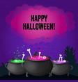 happy halloween greeting template vector image