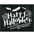 Happy Halloween hand-drawing lettering vector image