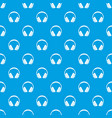 headphone pattern seamless blue vector image vector image