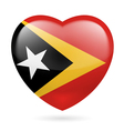 Heart icon of East Timor vector image