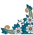 Henna flower and paisley background vector image vector image