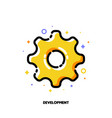 icon of cogwheel for business development concept vector image vector image