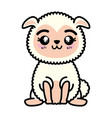 isolated cute standing sheep vector image