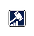law firm or legal office concept gavel logo vector image vector image
