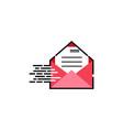 letter mail logo design vector image vector image