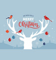merry christmas banner xmas template background vector image vector image