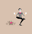 Mime performance - Reading vector image vector image