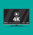 modern flat screen tv vector image
