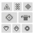 monochrome icons with Persian ethnic symbols vector image